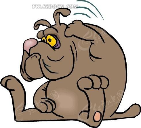 狗 小狗 卡通动物 卡通画 插画 手绘 矢量素材 动物图片 卡通形象