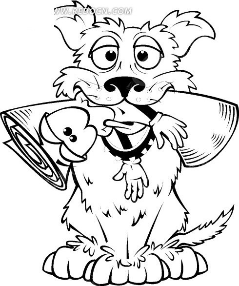 手绘狗狗一家图片