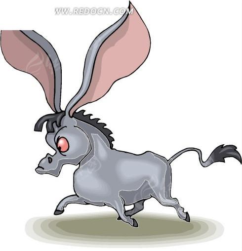 手绘大耳朵的驴