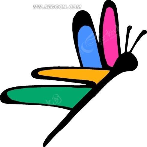 蜻蜓 昆虫 卡通动物 卡通画