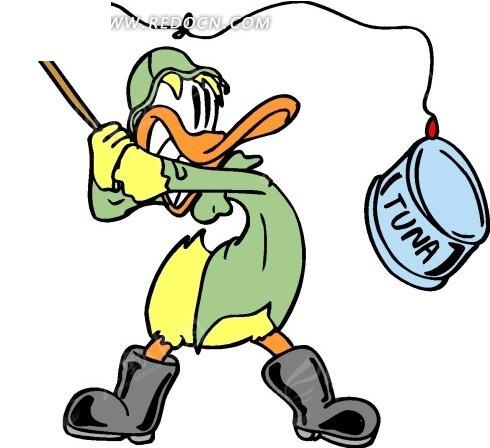 小兔子蘑菇伞卡通画