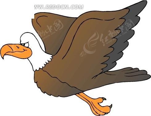 卡通画飞在空中的老鹰矢量图其他免费下载_陆地动物