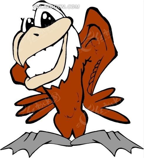 鹰 老鹰 雕 鸟 卡通动物 卡通画 插画 手绘 矢量素材 动物图片 卡通