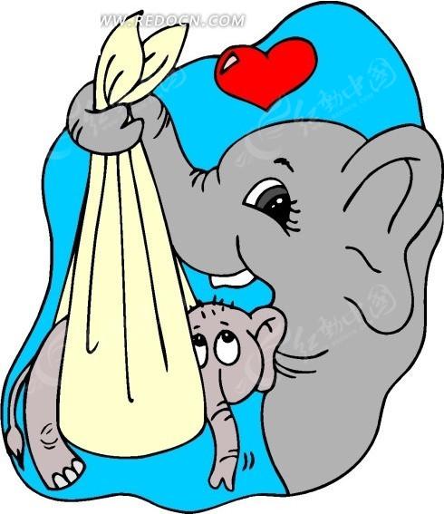 漫画动物;; 大象卡通画图片大全; 卡通画母子情深的图片