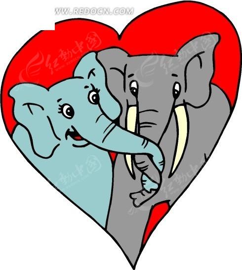 手绘用鼻子举着牌子的小象_陆地动物_红动手机版
