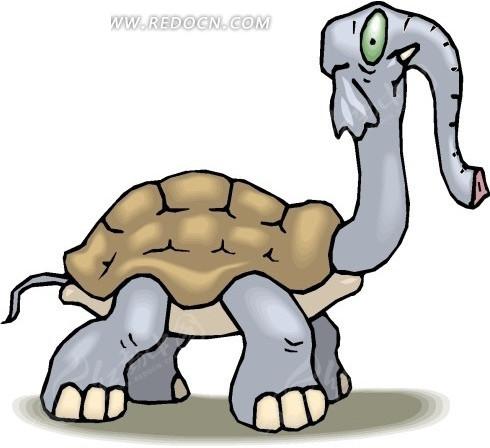手绘乌龟和大象的结合体其他素材免费下载 编号1694549 红动网