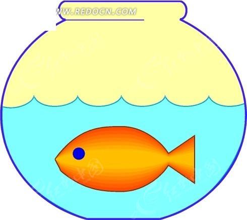 儿童手绘鱼缸里的鱼