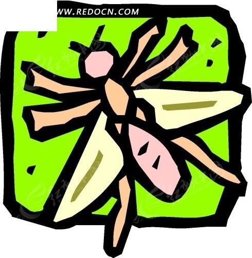 手绘简单的苍蝇图案矢量素材