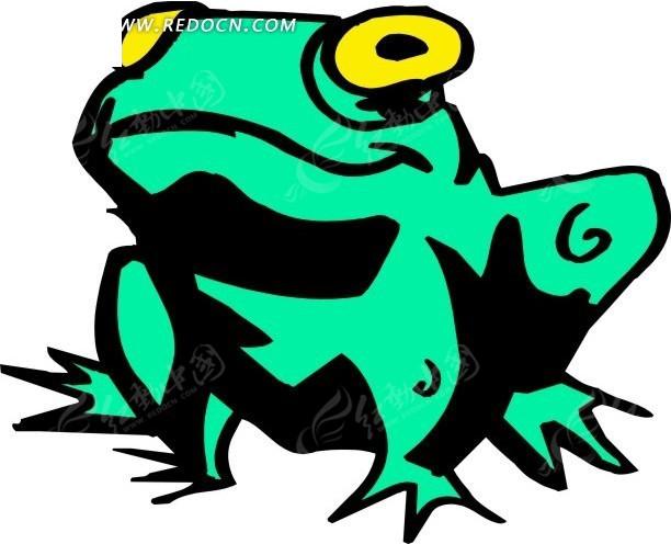青蛙 卡通动物 卡通画 插画 手绘 矢量素材 动物图片 卡通形象 免费下