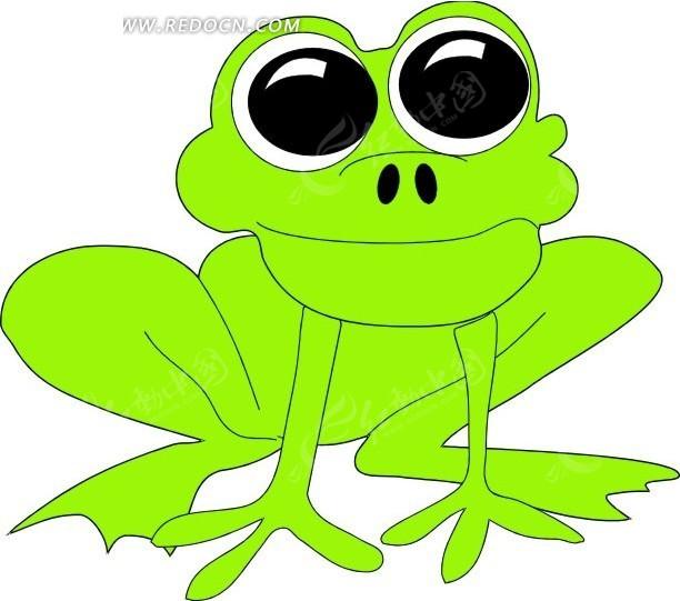 青蛙 卡通动物 卡通画