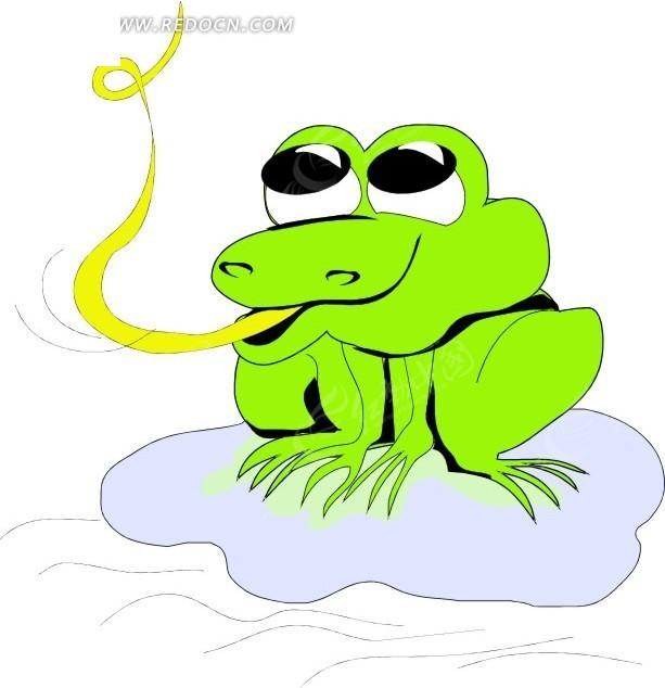 手绘蹲在荷叶上的青蛙其他素材免费下载 编号1696591 红动网