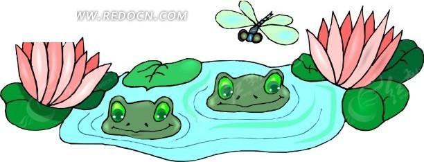 青蛙简笔卡通画; 最新蝌蚪变青蛙矢量图组图蝌蚪变