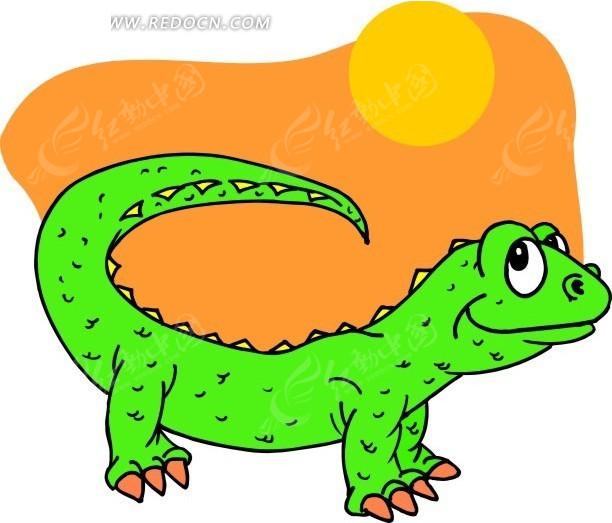 壁虎 蜥蜴 卡通动物 卡通画 插画 手绘 矢量素材 动物图片 卡通形象