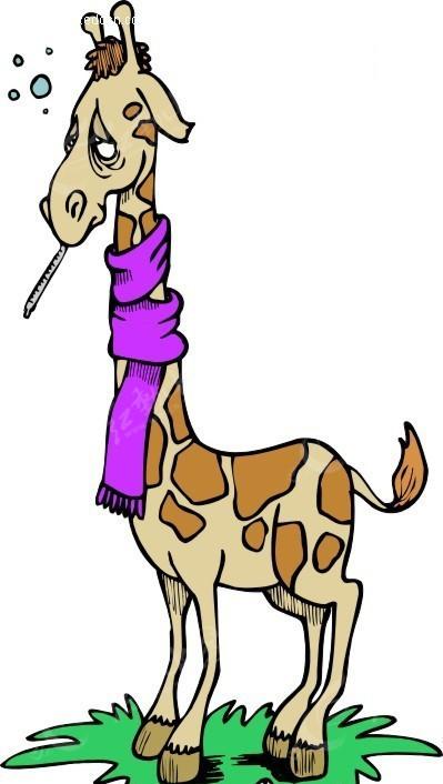 长颈鹿 卡通动物 卡通画 插画 手绘 矢量素材 动物图片 卡通形象 免费