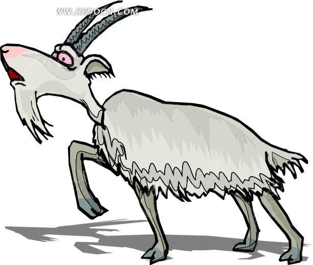 老山羊头饰简笔画