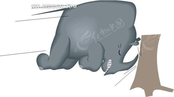 犀牛 卡通动物 卡通画 插画 手绘 矢量素材 动物图片 卡通形象 免费