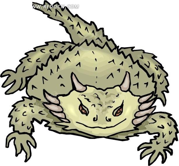 动物 爬行动物 生物 卡通插图 插画 妖怪 矢量文件 动物图片 矢量素材