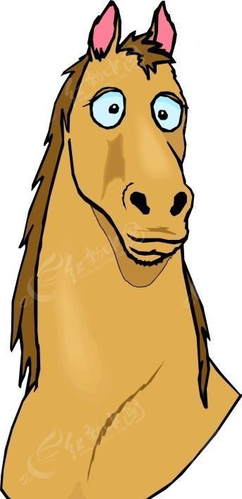 马 卡通动物 卡通画 插画 手绘 矢量素材 动物图片 卡通形象 免费下载