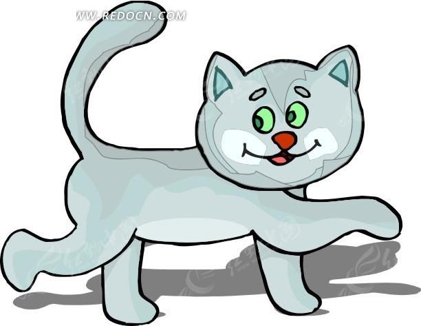 手绘漫步的小猫咪