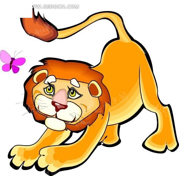 狮子 卡通动物 卡通画