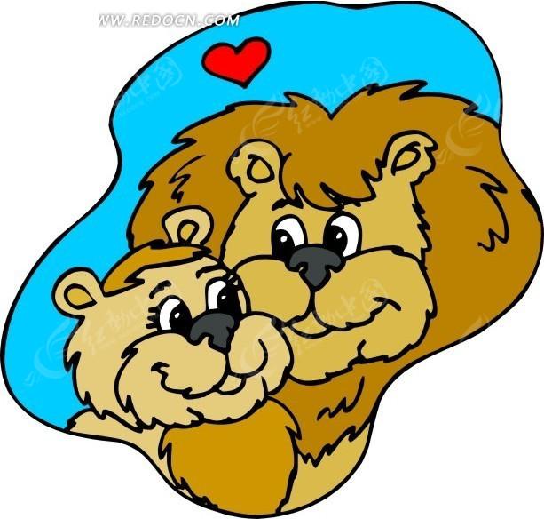 狮子 卡通动物 卡通画 插画 手绘 矢量素材 动物图片 卡通形象 免费下