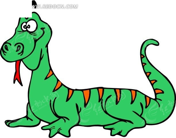 蜥蜴 变色龙 卡通动物 卡通画 插画 手绘 矢量素材 动物图片 卡通形象