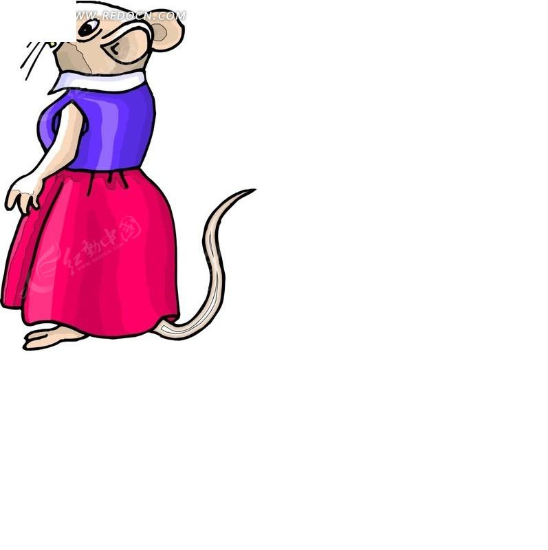 老鼠 小老鼠 卡通动物 卡通画 插画 手绘 矢量素材 动物图片 卡通形象