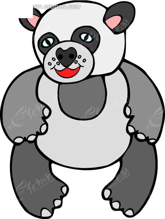 手绘一只大熊猫
