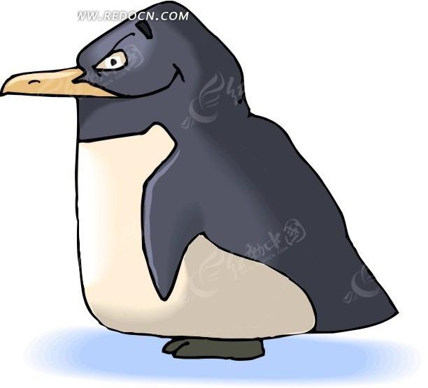 手绘一只胖企鹅