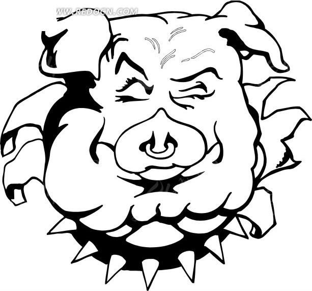 卡通猪头图片猪头的卡通简笔画卡通猪头qq头像; 搞笑卡通猪头图片