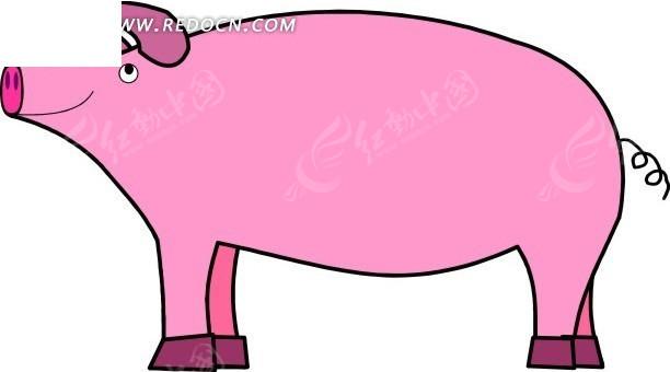 1699609); 关键词:猪卡通动物卡通画插画手绘矢量; 卡通画小懒猪图片
