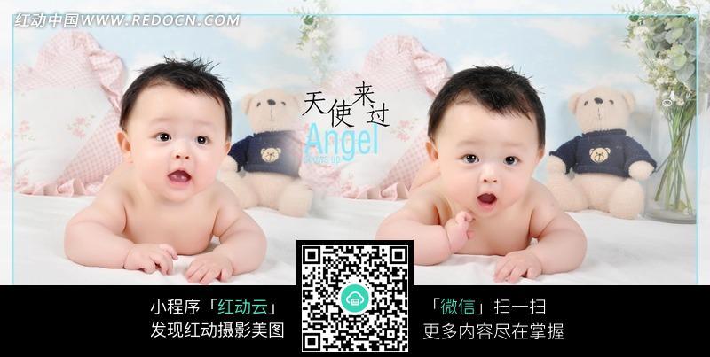 一对可爱的双胞胎小宝宝图片