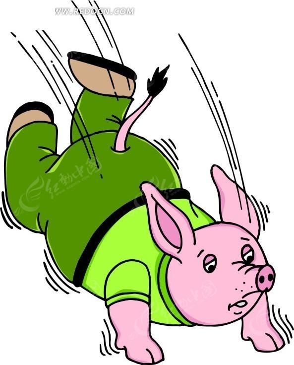穿衣服的猪卡通形象