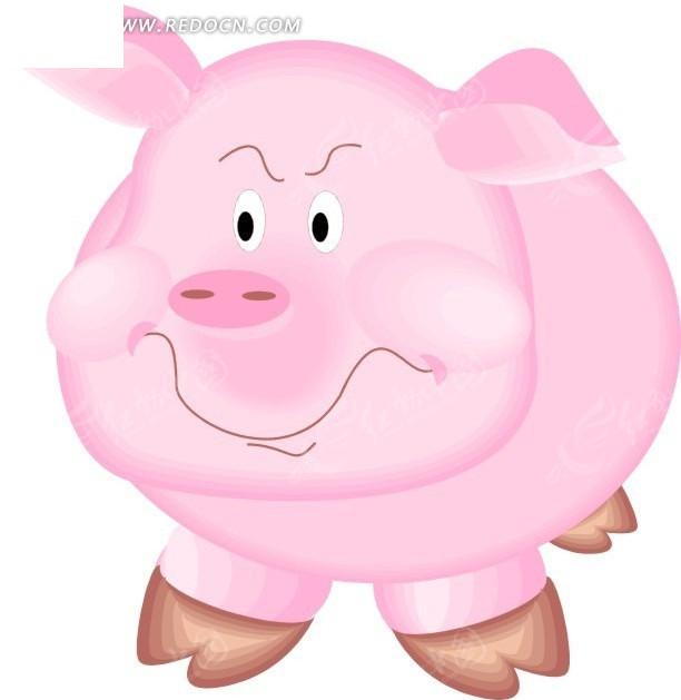 猪 手绘  插画