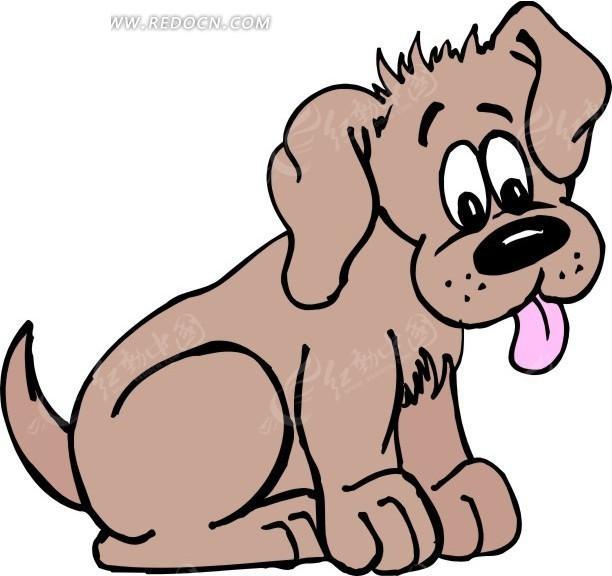 小狗手绘素材图片