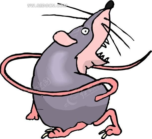免费素材 矢量素材 生物世界 陆地动物 手绘可爱的一只小老鼠