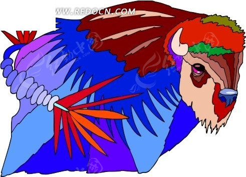 抽象创意动物-牛