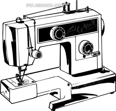 简笔画缝纫机