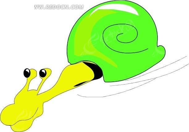 蜗牛 卡通动物 卡通画