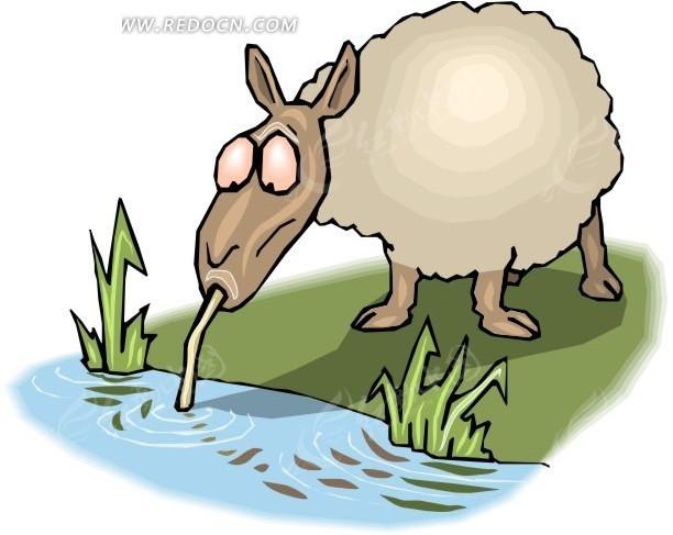绵羊 羊 卡通动物 卡通画 插画 手绘 矢量素材 动物图片 卡通形象