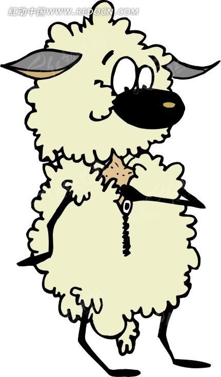 手绘可爱的小绵羊图片