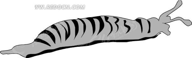 手绘黑色条纹的灰色小虫其他免费下载_陆地动物素材