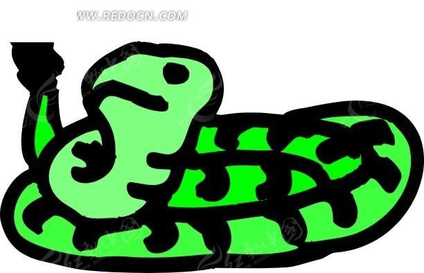 蛇 卡通动物 卡通画 插画 手绘 矢量素材 动物图片 卡通形象 免费下载