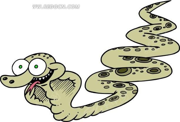 手绘瞪大眼睛的眼镜蛇