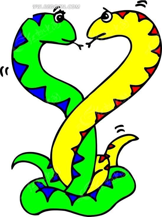 小花蛇卡通图片