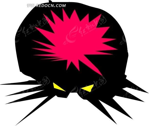 手绘黑色的大蜘蛛其他免费下载_陆地动物素材