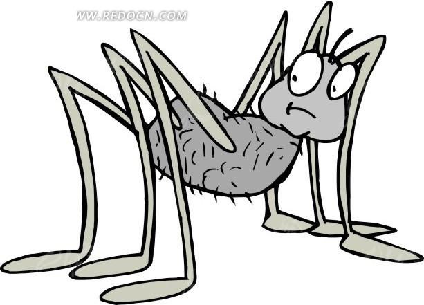 蜘蛛 卡通动物 卡通画 插画 手绘 矢量素材 动物图片 卡通形象 免费