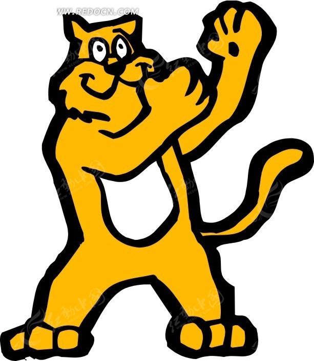 老虎 卡通动物 卡通画 插画 手绘 矢量素材 动物图片 卡通形象 免费