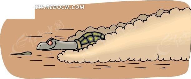 跑步的乌龟卡通图片分享; 手绘急速奔跑的乌龟; 奔跑的乌龟,奔跑的