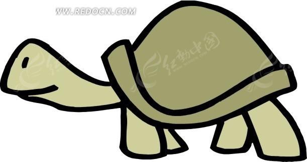 乌龟 卡通动物 卡通画 插画 手绘 矢量素材 动物图片 卡通形象 免费